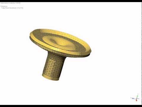 Solder atomizing equipment - FEA model
