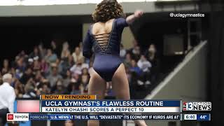 Flawless routine by gymnast goes viral