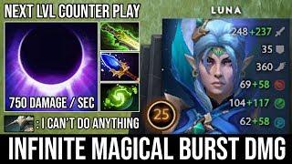 WTF 200 IQ Plays | Magical Luna Infinite Beam + 750 Damage Per Second Deleted Sven Ultrakills DotA 2