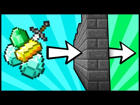 How To SECRETLY Pass Items Through Walls! - Minecraft Tutorial