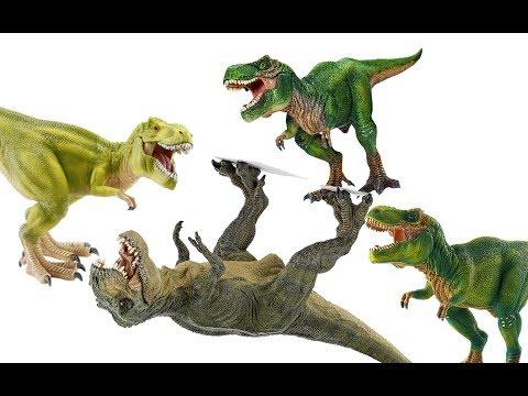 Динозавры. БИТВА ТИРАННОЗАВРОВ. Тираннозавр и три прекрасных леди!!! Мультики про динозавров