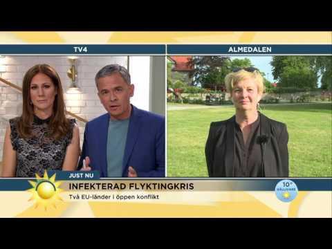 """Europas gränser stärks: """"Helt absurt att EU samarbetar med Libyen"""" - Nyhetsmorgon (TV4)"""
