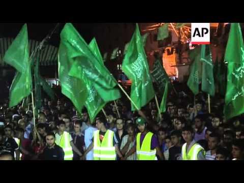 Hamas demonstration against Israeli airstrikes