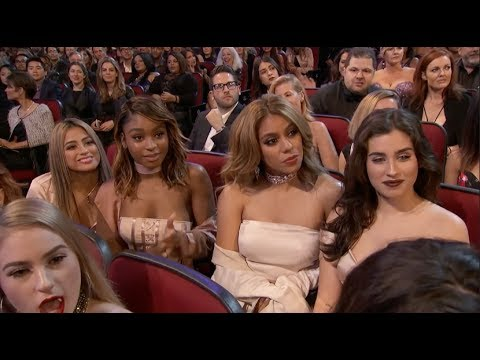 """Fifth Harmony Watching Ex-Member Camila Cabello Perform """"Crying In The Club"""""""