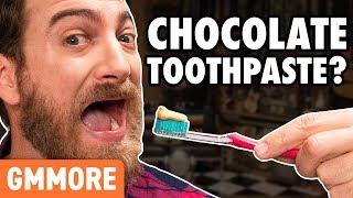 Weird Toothpaste Flavors Taste Test
