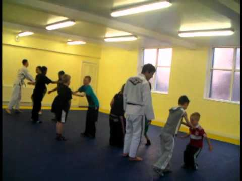 Sampa Brazilian Jiu Jitsu, Glendora performing a kids martial arts class in England.