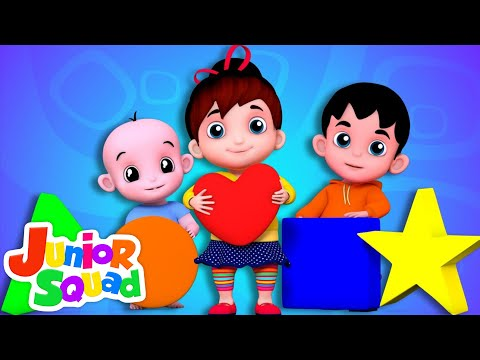 Junior Squad | Shapes Song | Nursery Rhymes | Songs For Kids | Videos For Children And Babies
