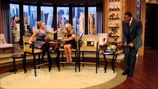 "Hayden Panettiere Scares Michael Strahan on ""LIVE with Kelly and Michael"""