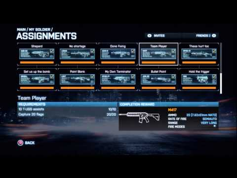 BF3 CQ Weapons Unlock Guide