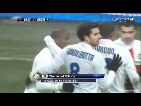 2009-2010 Inter vs Lazio 1-0 Eto'o