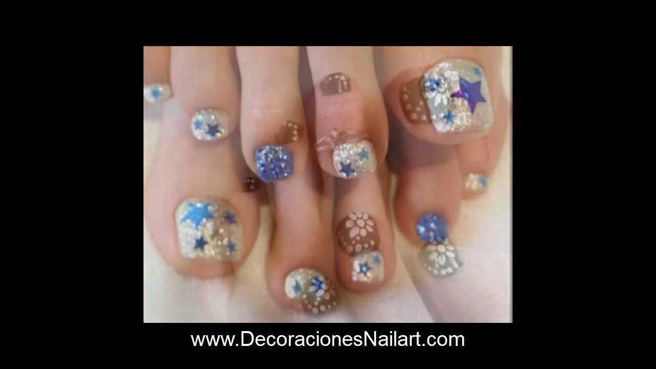 Dise os de u as para pedicure decoraciones nail art youtube - Nuevas decoraciones de unas ...