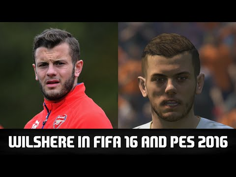 JACK WILSHERE IN FIFA 16 AND PES 2016! (Face Review) #131