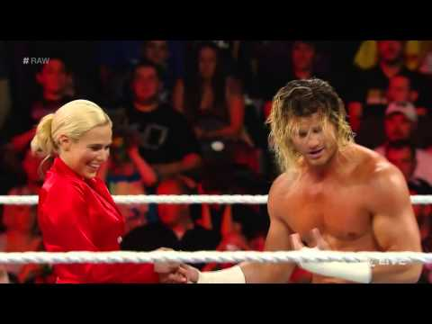 Dolph Ziggler with Lana vs  Adam Rose with Rosa Mendes - WWE Raw, June 22, 2015