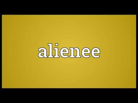 Header of alienee
