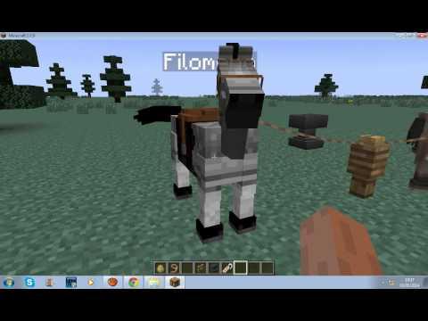 Minecraft 1.7.9 duvidas sobre os cavalos como domar montar da nome etc..