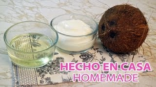 Como hacer manteca y aceite de COCO ♥ How to how make coconut oil