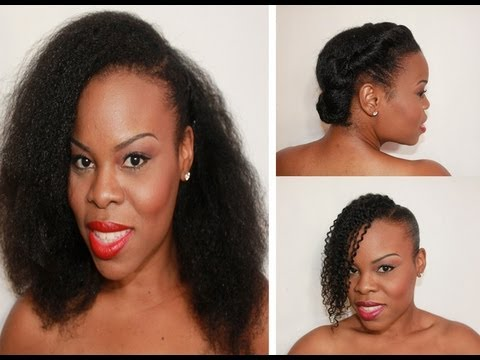 Triple Threat 3 Hairstyles For Quot Natural Hair