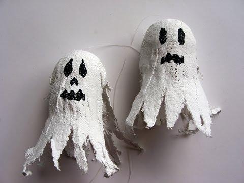Manualidades Halloween - Fantasma para Dia de Muertos .Halloween Ghost.
