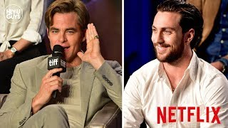 Outlaw King Press Conference - Chris Pine on sex scenes, full frontal nudity & parallels with Trump