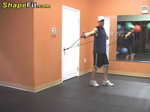Resistance Bands Exercises For Pecs - Chest Flys
