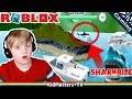 ROBLOX Shark Bite! Let's Play. EATEN BY & I'M A SHARK!! | Roblox SharkBite (Beta) [KM+Gaming S02E12] MP3
