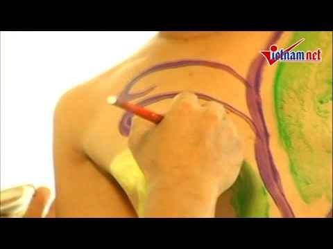 Shock Họa sĩ vẽ lên người mẫu khoar thân sakuraBon