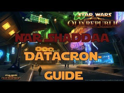SWTOR Datacron Guide für Nar Shaddaa Imperium