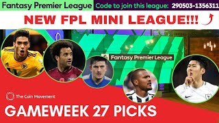 FPL GAMEWEEK 27 PICKS 2018/19 Fantasy Premier League : Aubameyang or Son for the C?