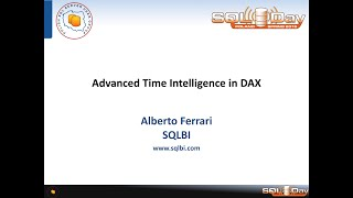 SQLDay 2015 | BI | Advanced Time Intelligence in DAX - Alberto Ferrari