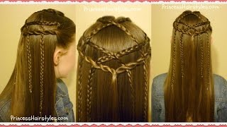 Braided Lattice Pull Through Hairstyle