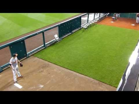 Orioles' pitcher Kevin Gausman warms up in bullpen