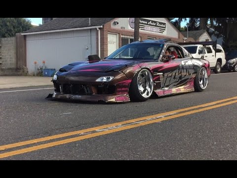 INSANE TWINCHARGED RX7 FD DRIFT CAR!! (Parcfest drift prep)