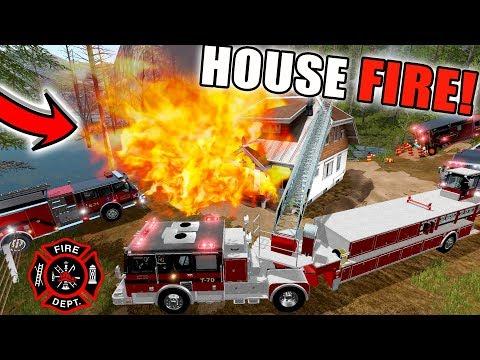 NEW FIRE MODS | MULTIPLAYER | HOUSE FIRE | FARMING SIMULATOR 2017