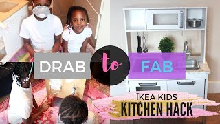 KIDS DIY UPCYCLE | IKEA DUKTIG KITCHEN HACK | MeeMee and YaYa