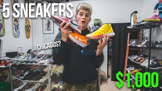 I Bought 5 Sneakers With $1000...