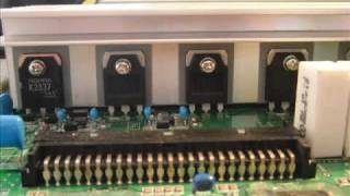 Replacing the Y Sustain board on a 50inch plasma tv Movie.wmv