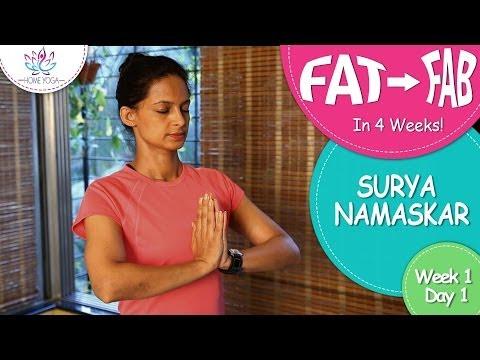 Lose Weight In 4 Weeks || Week 1 - Day 1 || Surya Namaskar