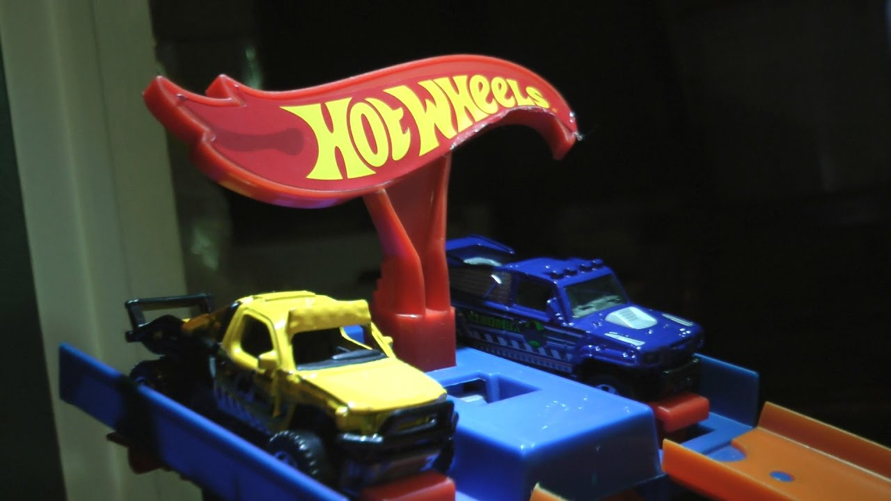 Trucks Track Set Toy Cars