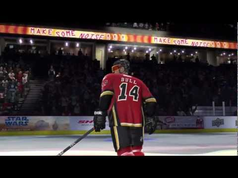 NHL 12 Be a Pro: Left Wing (First career regular season game!)