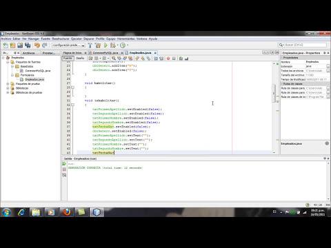 Aplicacion Java y MySQL, Netbeans - Parte2