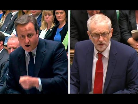 David Cameron tells Jeremy Corbyn: 'For heaven's sake man, go!'