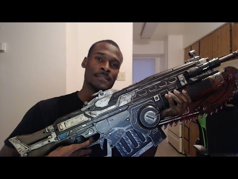Gears of War 4 Customized Lancer Replica Unboxing Live OMG
