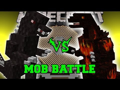 Godzilla Vs Burning Godzilla - Minecraft Mob Battles - Mods - Godzilla Mod video