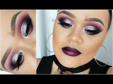 Dramatic Cut Crease & Purple Ombre Lip ♡ Makeup Tutorial