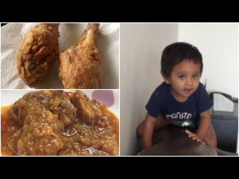 Sireesha vlogs || KFC style fried chicken || special chicken curry || what is primer :):)