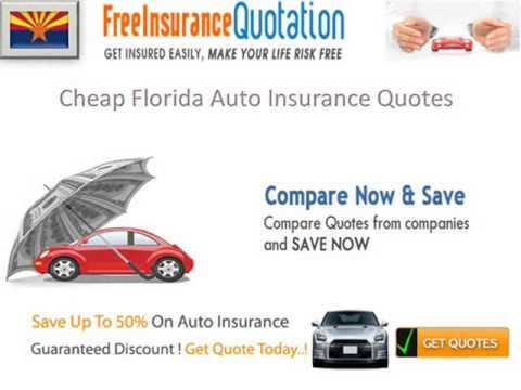 Florida Auto Insurance Company - Average Florida Car Insurance Rates