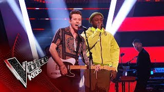 will.i.am and Danny Jones Dream Duet! | Blind Auditions | The Voice Kids UK 2019