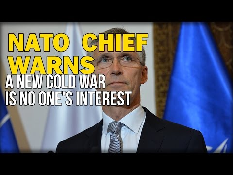 NATO CHIEF WARNS A NEW COLD WAR IS NO ONE'S INTEREST