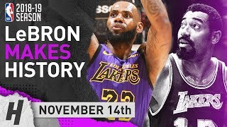LeBron James PASSES WILT! EPIC Highlights vs Trail Blazers 2018.11.14 - 44 Pts, 10 Reb, 9 Ast
