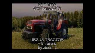 Spin Tires 2013 - URSUS TRACTOR + 5 trailers FULL :)